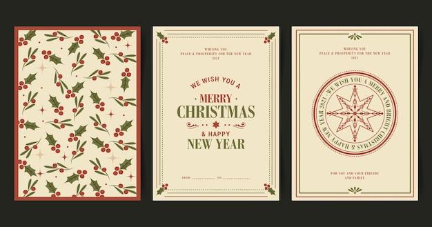 Coleção vintage de cartões de natal