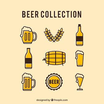Coleção vintage de cervejas