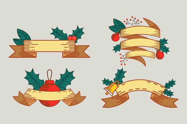 Coleção vintage de fitas de natal