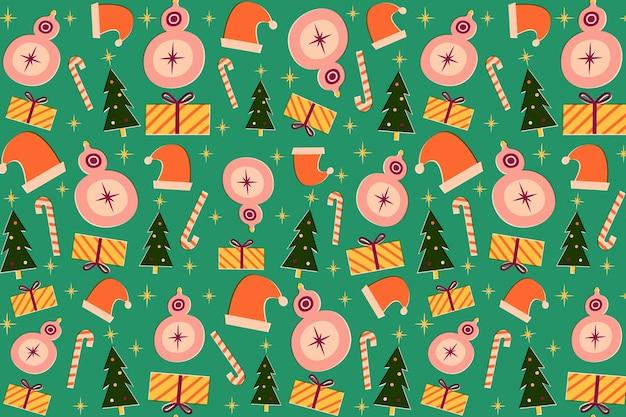 Coleção vintage de padrões de natal