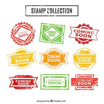 Coleção vintage de selos em breve