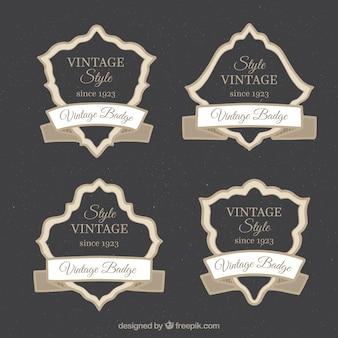 Coleção vintage distintivo com design plano