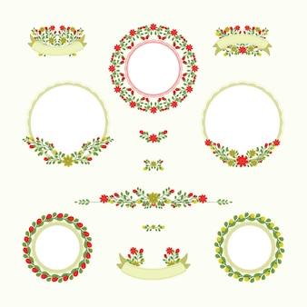 Coleção vintage flower frame wedding