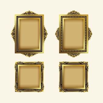 Coleção vintage frame realista