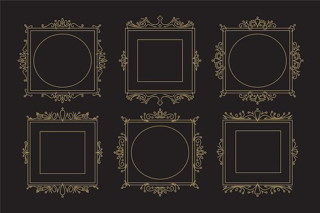 Coleção vintage victorian frame