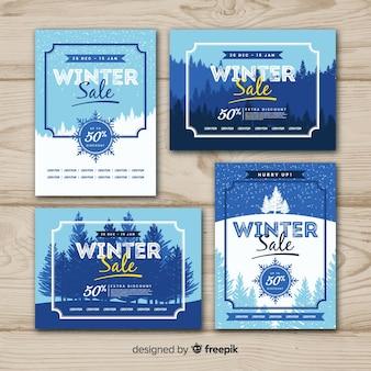 Colecção de cartão de inverno adorável