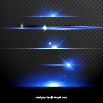 Colecção de divisores com efeito de luz
