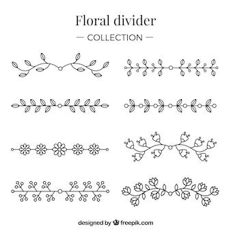 Colecção de divisores com elementos florais