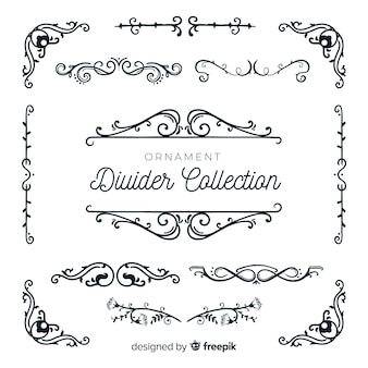 Colecção de divisórias ornamentais