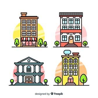 Colecção de habitação colorida