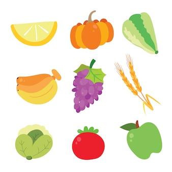 Colecção de ícones de vegetais