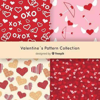 Colecção de padrões de dia dos namorados