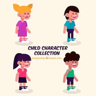 Colecção de quatro personagens para crianças