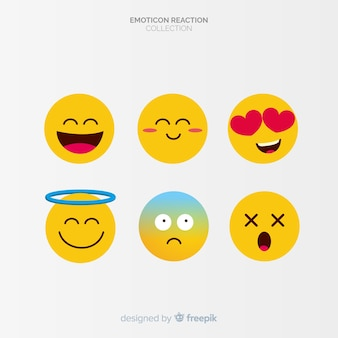 Colecção plana de reacção emoticon