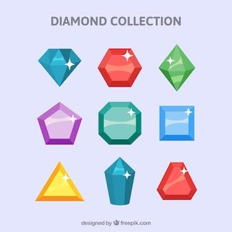 Colección de piedras preciosas brillantes