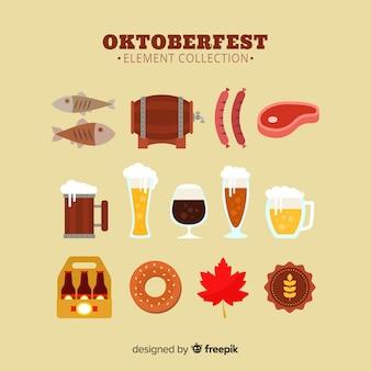 Colecionador de elemento oktoberfest clássico com design plano