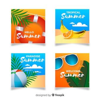 Colecionar cartão de verão