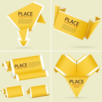 Colecionar papel origami banner