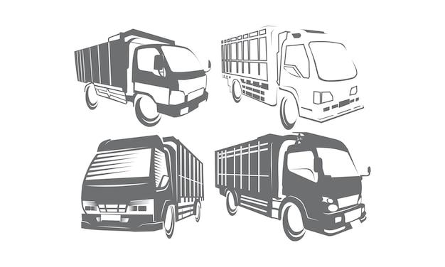 Coleções de conjunto de logotipo do caminhão