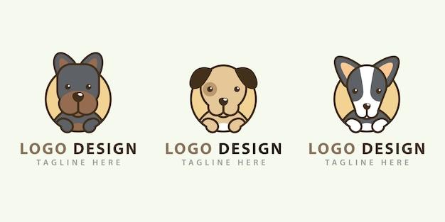 Coleções de design de logotipo de cachorro