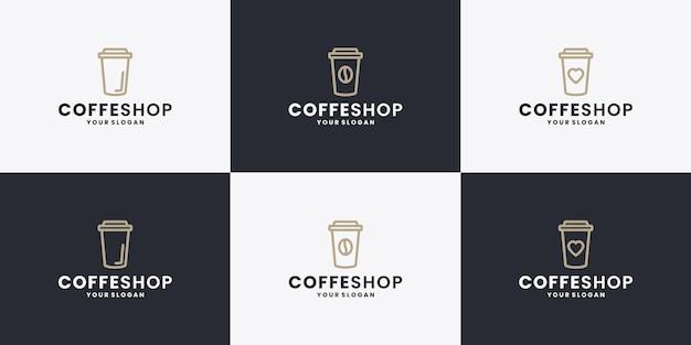 Coleções de design de logotipo de cafeteria