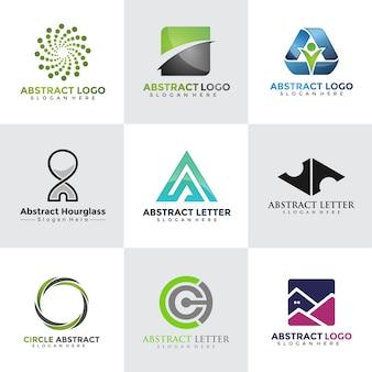 Coleções de design de logotipos tecnológicos