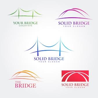 Coleções de design de símbolo de ponte