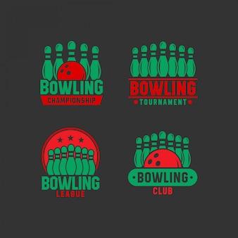 Coleções de logotipo de boliche
