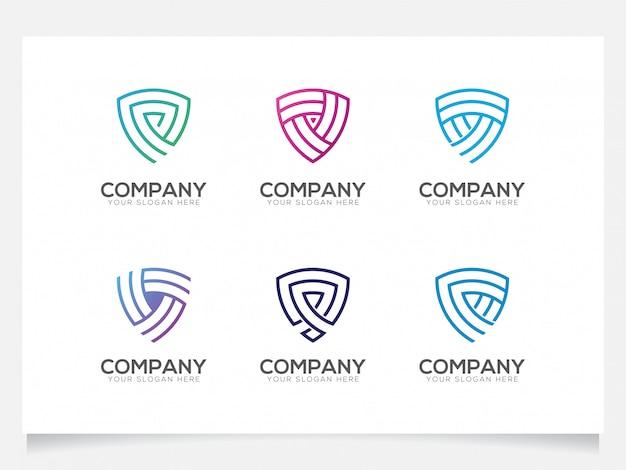 Coleções de logotipo de escudo para empresa ou agência