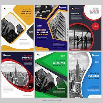 Coleções de modelo de design de capa de brochura de negócios