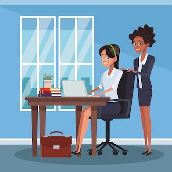 Colegas de negócios no escritório