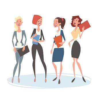 Colegas de recursos humanos de equipe de grupo de mulher de negócios