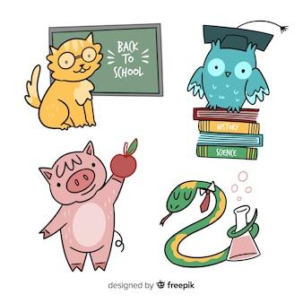 Coleta de animais para o evento de volta às aulas
