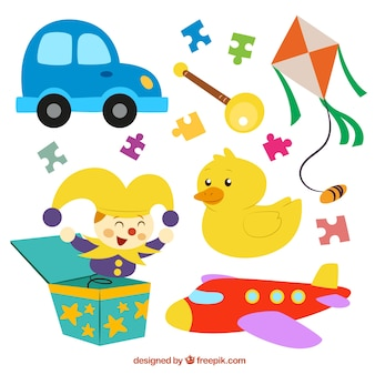 Coleta de brinquedos engraçados
