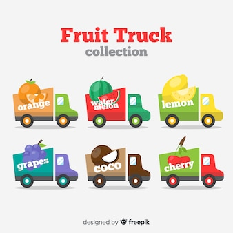Coleta de caminhão de frutas