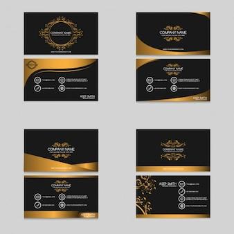 Coleta de cartões de visita de ouro