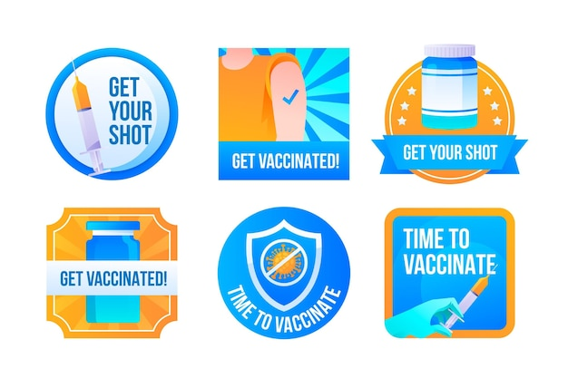 Coleta de crachás de campanha de vacinação de gradiente