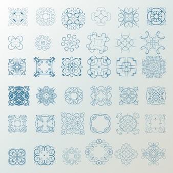 Coleta de desenhos ornamentais