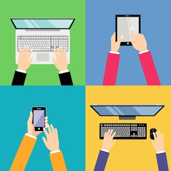 Coleta de dispositivos tecnológicos