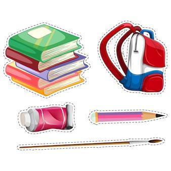 Coleta de elementos da escola