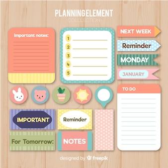 Coleta de elementos de planejamento