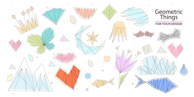 Coleta de elementos geométricos