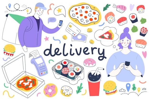 Coleta de entrega de comida