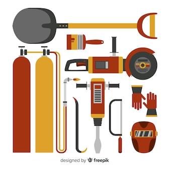 Coleta de equipamentos de construção