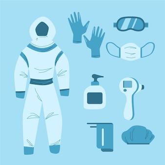 Coleta de equipamentos de proteção