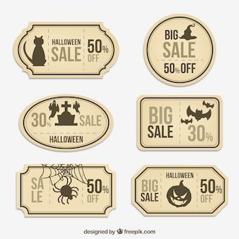 Coleta de etiquetas da venda elegante