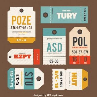 Coleta de etiquetas de bagagem