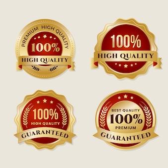 Coleta de etiquetas de cem por cento de garantia