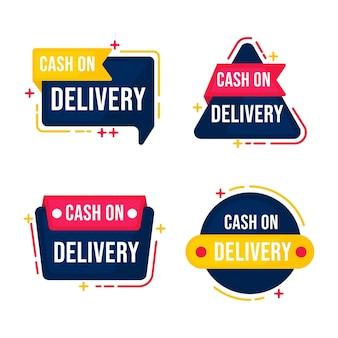 Coleta de etiquetas de pagamento na entrega