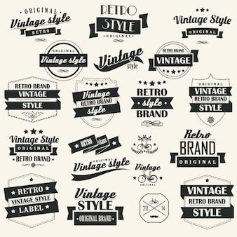 Coleta de etiquetas retros